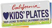 California Kids License Plate Logo and Link